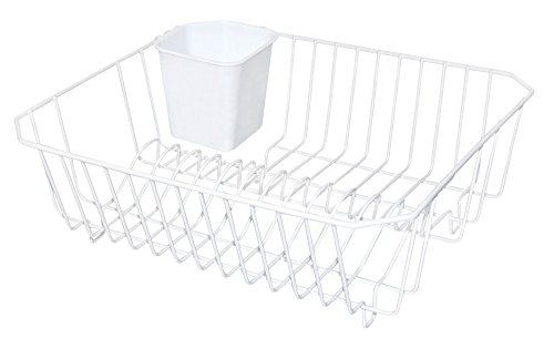- REAL HOME Innovations Dish Drainer, Small, White