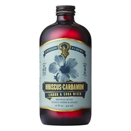 Portland Syrups Hibiscus Cardamom Syrup (16oz)