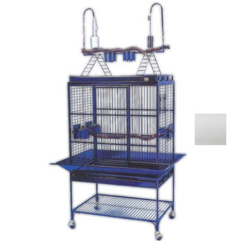 Avian Adventures Mediana Playtop Bird Cage White, My Pet Supplies