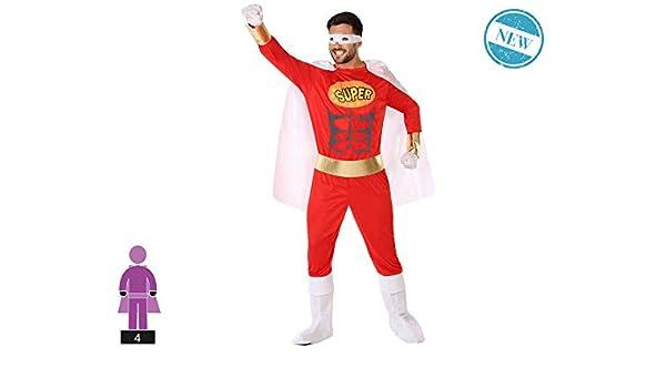 Atosa-61524 Atosa-61524-Disfraz Heroe Comic-Adulto Hombre, Color ...