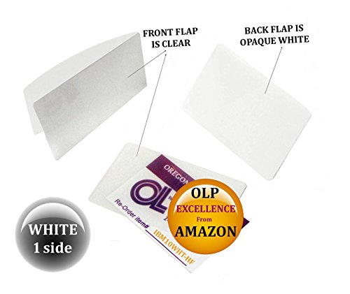 Oregon Lamination Hot Laminating Pouches IBM Card (pack of 50) 10 mil 2-5/16 x 3-1/4 White/Clear by Oregon Lamination Premium