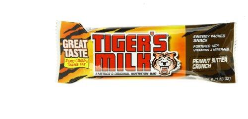 TIGER'S MILK Tiger Milk, Protein Bar, Peanut Butter Crunc...