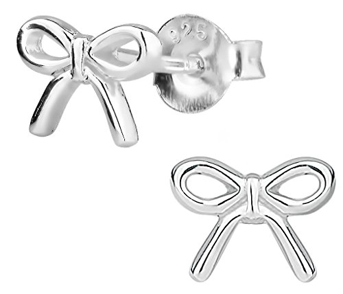 - Hypoallergenic Sterling Silver Bow Stud Earrings for Kids (Nickel Free)