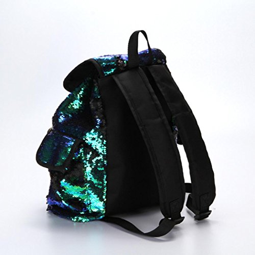 School Soft Women Backpack Bling Backpack Shining Bag Drawstring Green Bag Sports FashionDouble Girls Casual Backpack Mermaid Cute Bag LILICAT Color Fashion Sequin Bag vq8pwpx