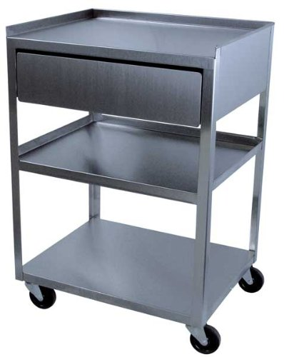 Stainless Cart with Drawer by River's Edge Products