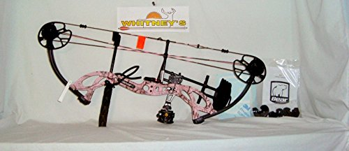 Fred Bear Bows (Fred Bear 2017 Cruzer G2 Spark Bow Pink Left Hand Package 5-70# 12-30