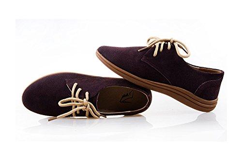 Summer Mae Mujer Zapatos de Cordones Con Muchos Colores Café