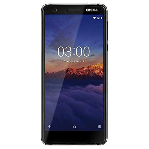 Nokia 3.1 16GB GSM Unlocked (AT&T/T-Mobile/Cricket/H2O) Smartphone, Black -
