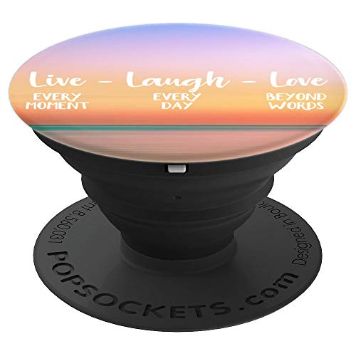 Live Laugh Love - Sunset Glow - PopSockets Grip and Stand for Phones and Tablets