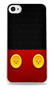 Trendy Accessories Yellow Buttons on Red Leather Design Print White Silicone Case for iPhone 5 / ipod touch4