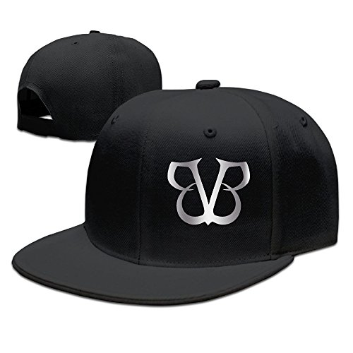 Black Veil Brides Platinum Logo Baseball Snapback Hat Black