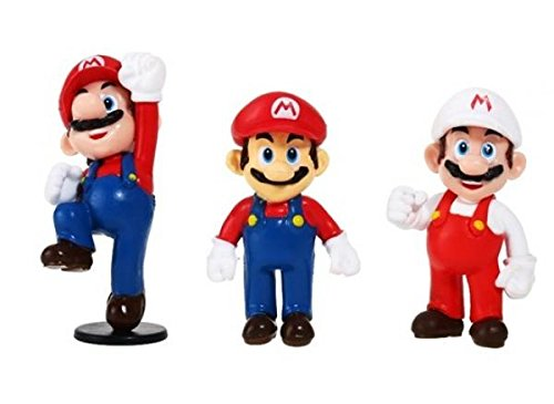 Action Figures 3 Pieces Set from Game Super Mario