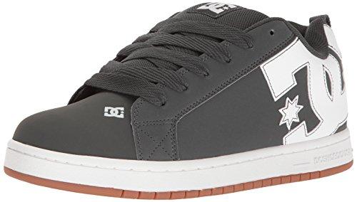DC Shoes COURT GRAFFIK SHOE D0300529 - Zapatillas de cuero nobuck para hombre Grey