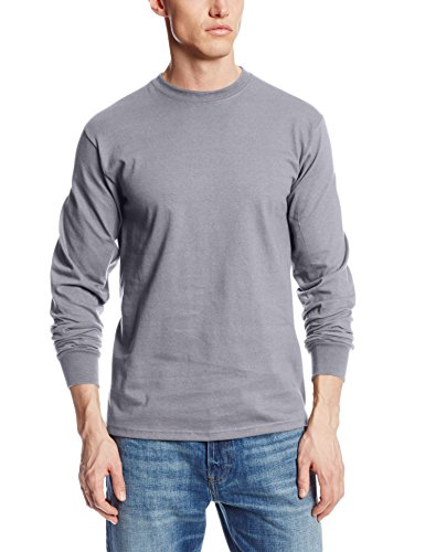 Sweater Mens Gunmetal (MJ Soffe Men's Long-Sleeve Cotton T-Shirt, Gun Metal, Large)