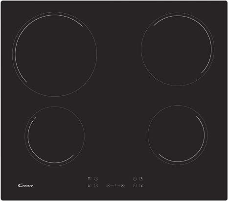 Candy CH63CC Encimera vitrocerámica 3 zonas de cocción, ancho 60 cm, 10 niveles potencia, 5.5 W, Negro: 136.66: Amazon.es: Grandes electrodomésticos