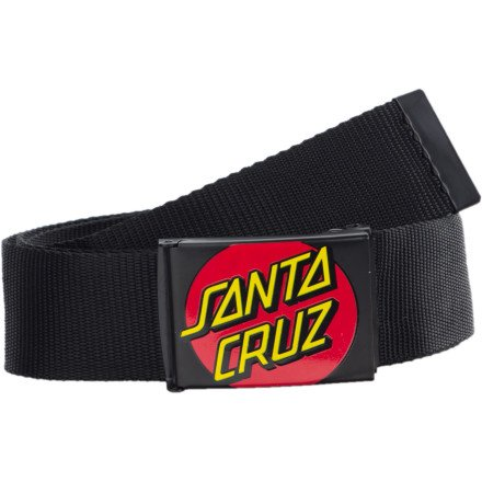 Santa Cruz Classic Dot Black Red Yellow Screenprint Web Belt ()