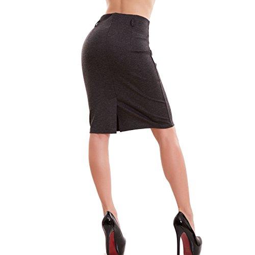 Toocool - Falda - ajustado - para mujer gris