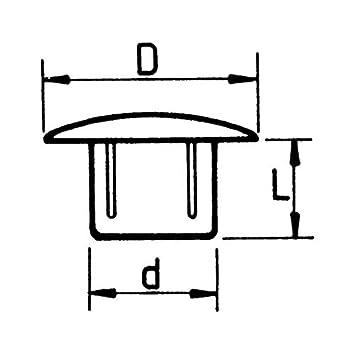 50/Tapones cubre-orificio 8/mm Irox Blanco pl/ástico cabeza 12/mm Converse