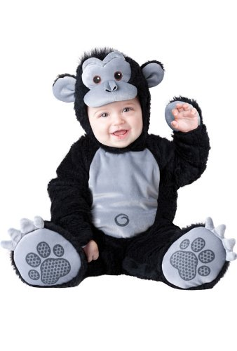 InCharacter Costumes Baby's Goofy Gorilla Costume, Silver/Black, Large for $<!--$58.82-->