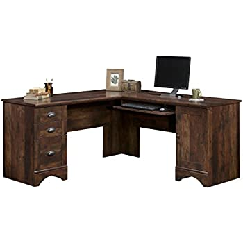 Sauder 420474 Harbor View Corner Computer Desk, Curado Cherry