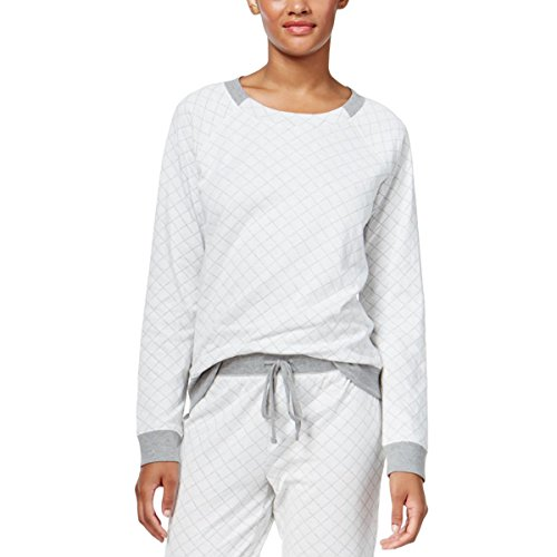 Alfani Top (Alfani Womens Quilted Long Sleeve Pajama Top Gray XXL)