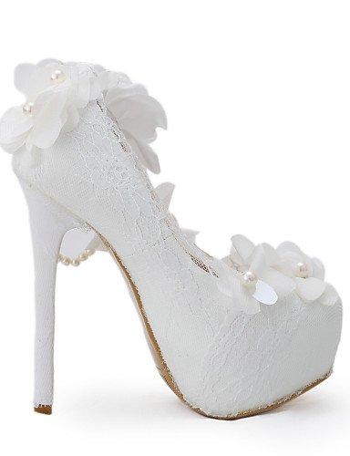 GGX/ Zapatos de boda-Tacones-Tacones-Boda / Vestido / Fiesta y Noche-Blanco-Mujer , 5in & over-us8.5 / eu39 / uk6.5 / cn40 , 5in & over-us8.5 / eu39 / uk6.5 / cn40 5in & over-us6 / eu36 / uk4 / cn36