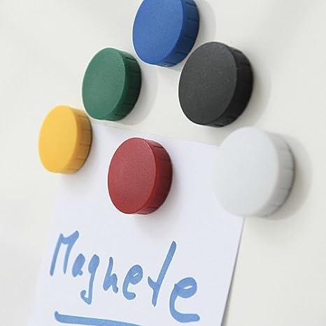 10x Magnete Gelb /Ø 20 mm Haftmagnete Magnete f/ür Magnettafel Magnet Rund Gelb Boards
