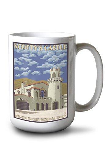 Lantern Press Death Valley, California- Scotty's Castle (15oz White Ceramic - 9880 Wall