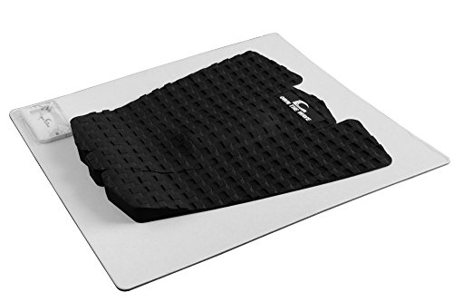 Own the Wave 3pc Grip Pad for All Boards - Customizable and Comfortable Traction Pad for Surfboard, Longboard, SUP Board, Skimboard - Stickiest 3mm Adhesive- with Wax Comb (Black)