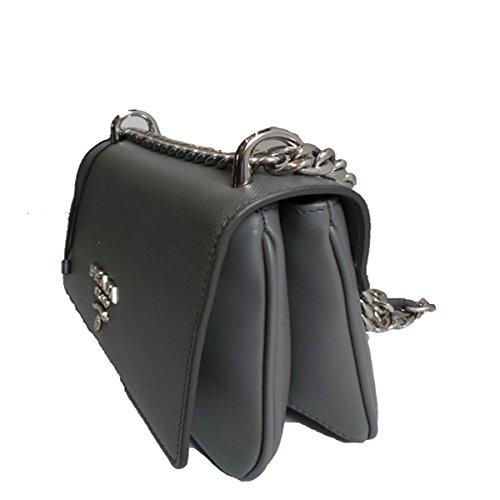 ed54b0bafd3e Prada Silver Gray Saffiano Leather Designer Shoulder Bag for Women 1BD144