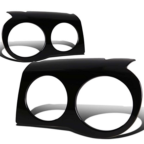 Chrysler Srt (For 05-10 Chrysler 300C 1st Gen 2pc ABS Plastic Headlight Covers (Glossy Black))