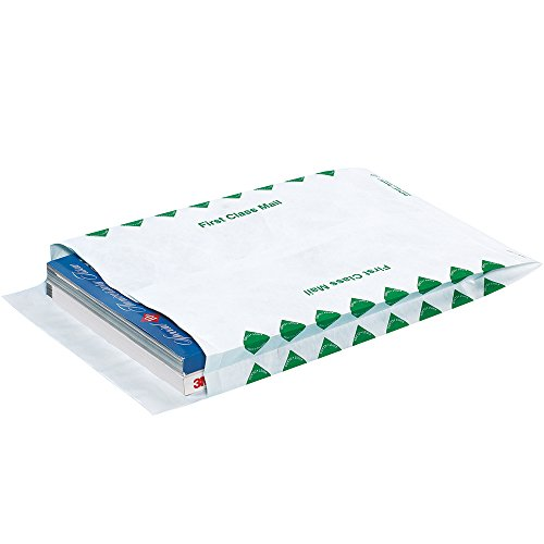 Quality Park TYE10131FC Tyvek Olefin First Class Expandable Envelope, 13'' Length x 10'' Width x 1-1/2'' Height (Case of 100) by Tyvek