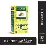 TE-A-ME Natural Tulsi Green Tea Bags (Pack of 25)
