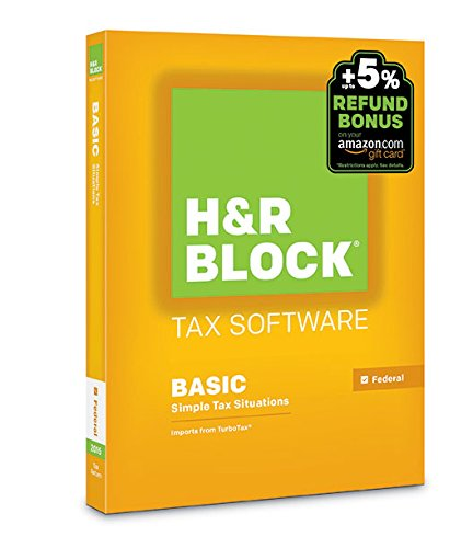 H&R Block 2015 Basic Tax Software +  Refund Bonus Offer  - PC/Mac Disc [Old Version]