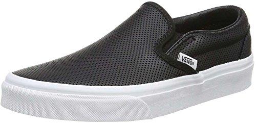 Vans Mens Slip-ON PERF Leather Black Size 7.5