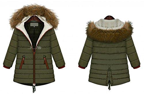 con para acolchado Chaqueta Asia capucha Verde ideal para completa y Tama con Moda o mujer cremallera Anuncios wFqxSvII