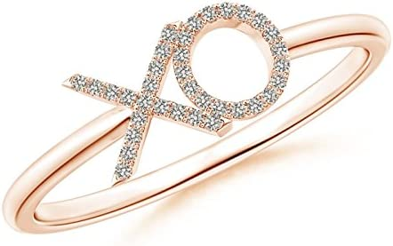 Diamond Wedding Band in 14K Pink Gold G-H,I2-I3 1//20 cttw, Size-9.5