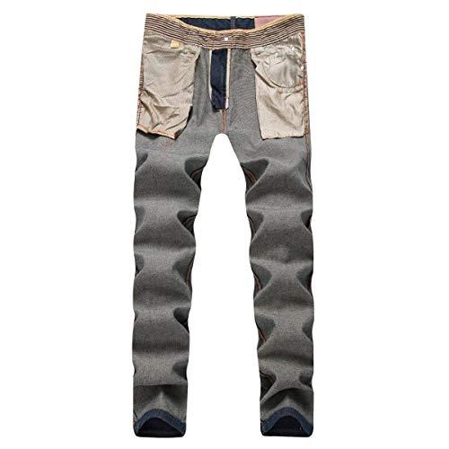 Ropa Ocio Vaqueros Hombres del Azul Estiramiento Cómodo Vaqueros ADELINA Recta La Suave De Cintura De Pantalones Denim Delgada Pantalones Mediana Manera gwqqvzOS