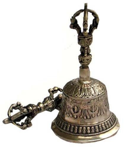 Tibetan Bell and Dorje Set, Vajra, Brass, Handmade in Nepal 4334197872