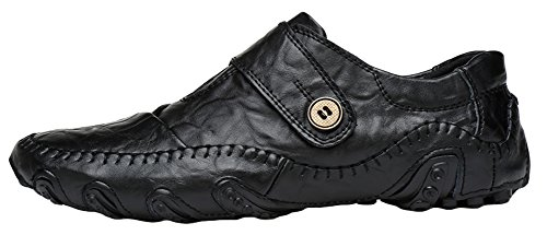 Agowoo Heren Tij Casual Octopus Zool Anti Slip Loafer Schoenen Black_hook And Loop