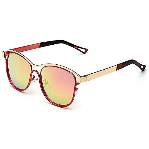 Plata Beach Color Gu Peggy Mujeres Aire Protección UV Gafas de Unisex Sol Lens para al Conducción de Libre Hombres Rojo Personality Travelling Colored SHqH1C