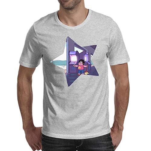 KSDMKK Man's Steven-Universe-Arcade-Mania-Star- T-Shirts Fashion Travel Round Neck Short Sleeve T-Shirt