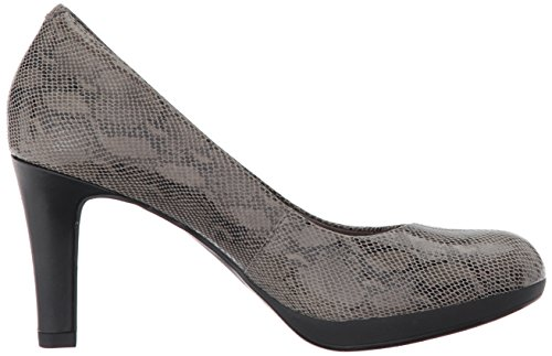 Clarks Womens Adriel Viola Dress Pump Stone Snake