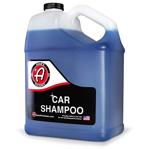 Adam's Car Wash Shampoo (Gallon) - pH Auto Detailing & Cleaning Wash Soap | Use W/ 5 Gallon Bucket, Pressure Washer, Foam Cannon or Gun, Sponge, Mop, Mitt, Chamois | Won't Remove Car Wax or Sealant