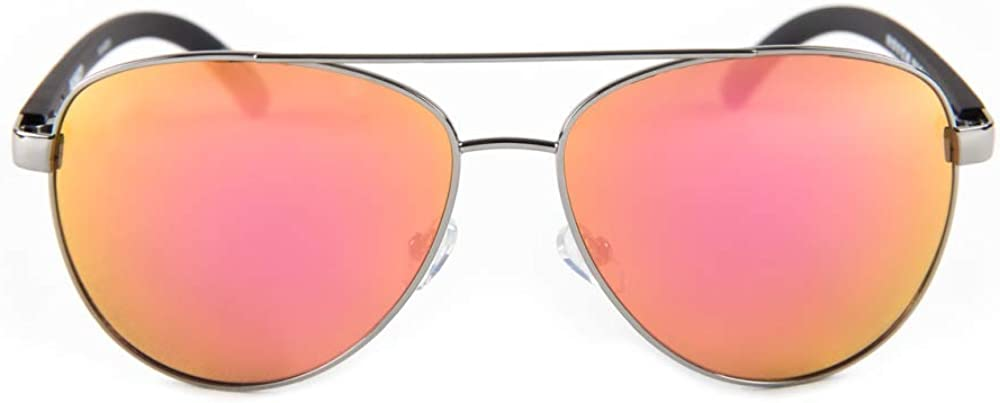 Hoven The Dewey Aviator Style Polarized Sunglasses Black on Black with Rose Gold Lens 412B2NjnsP0LUL1000_