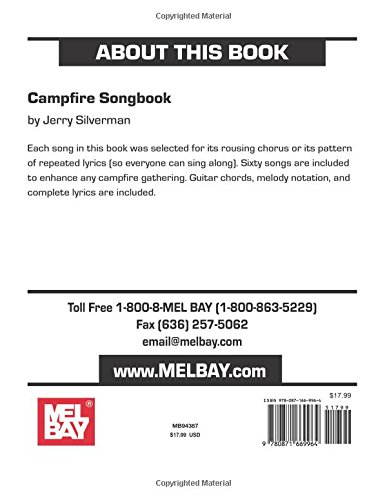 Mel Bays Campfire Songbook Jerry Silverman Music Library Jerry