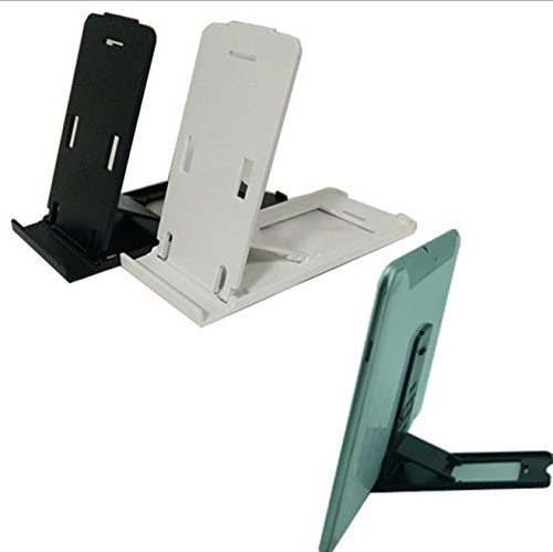 HSINI Domire Universal Adjustable Folding Plastic Desk Stand for all iPads, iPhones, Tablets and Mobile Phones