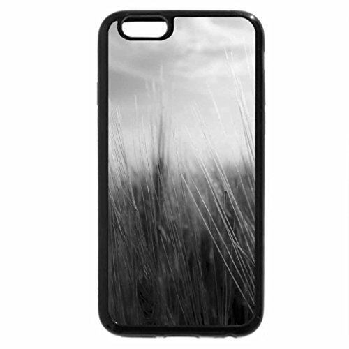 iPhone 6S Case, iPhone 6 Case (Black & White) - Tall Stand Grass
