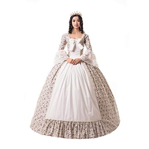 Women's Victorian Rococo Dress Civil War Ball Gown Southern Belle Costumes (S, Color2)