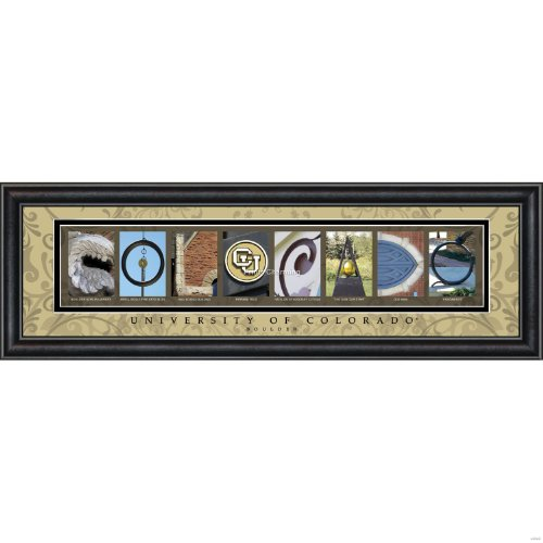 Bold Border Big (Prints Charming Letter Art Framed Print, U of Colorado Boulder-Colorado, Bold Color Border)